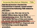 accessing manufacturer websites tsbs2