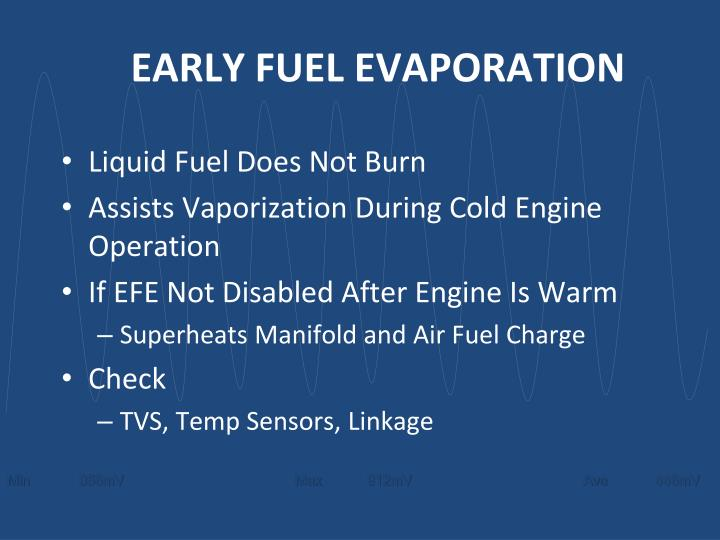 EARLY FUEL EVAPORATION