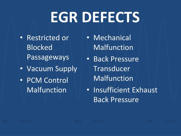EGR DEFECTS