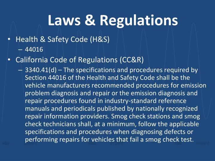 Laws & Regulations