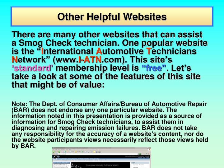 Other Helpful Websites