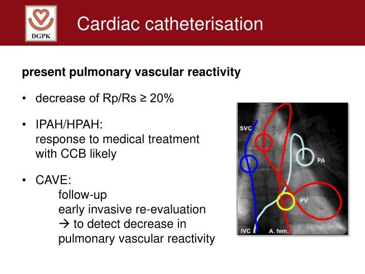 Cardiac catheterisation