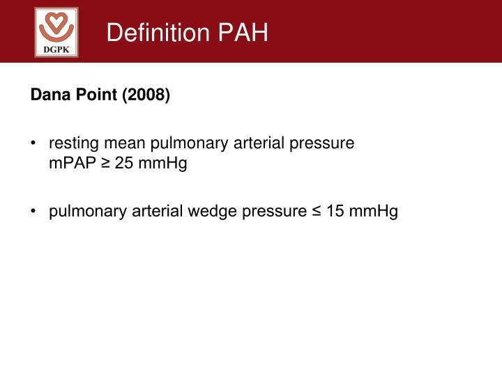 Definition PAH