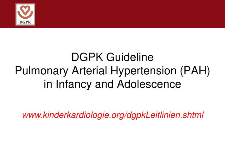DGPK Guideline