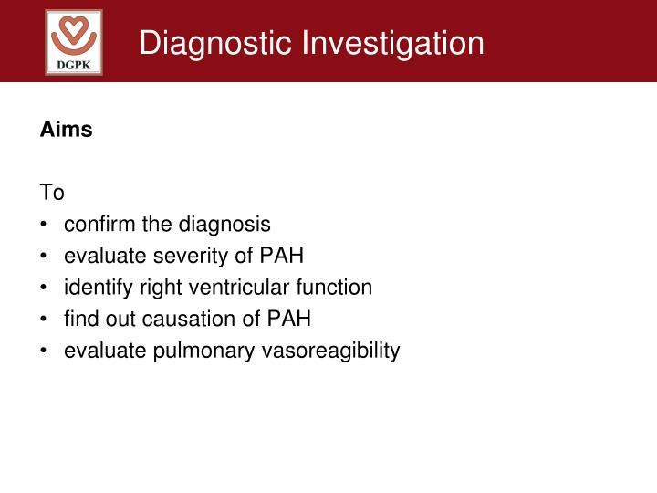 Diagnostic Investigation