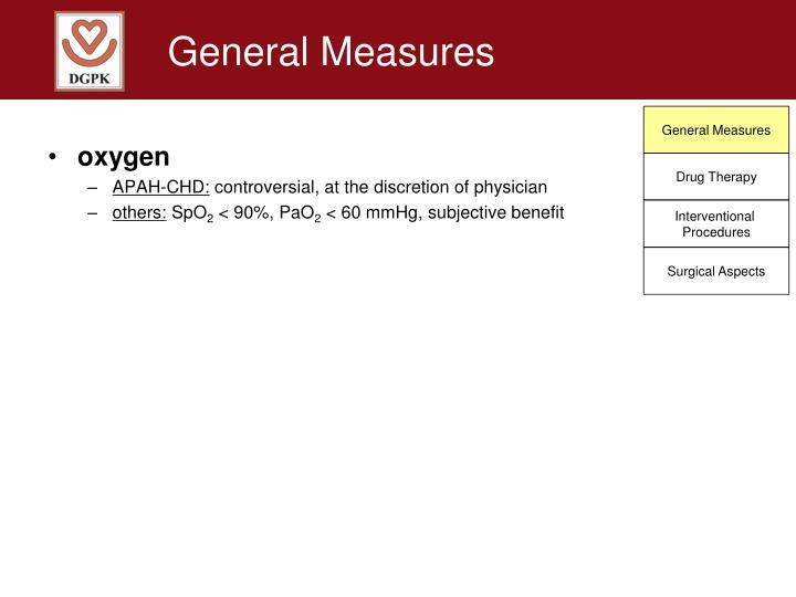 General Measures