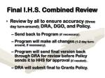 final i h s combined review