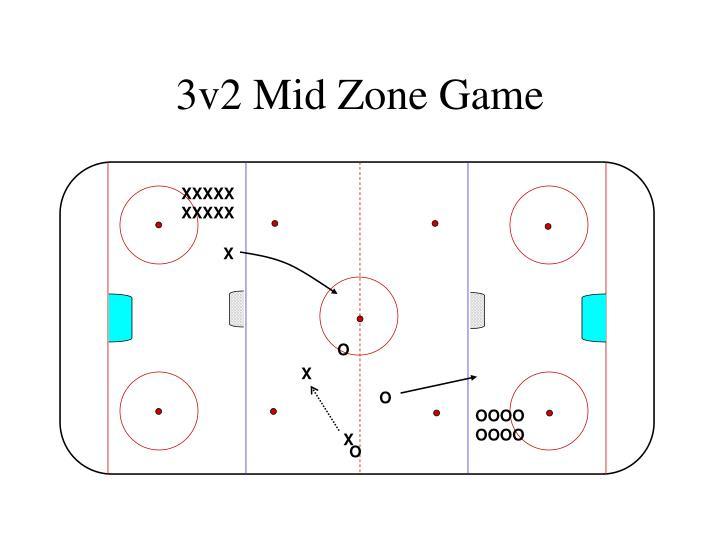 3v2 Mid Zone Game