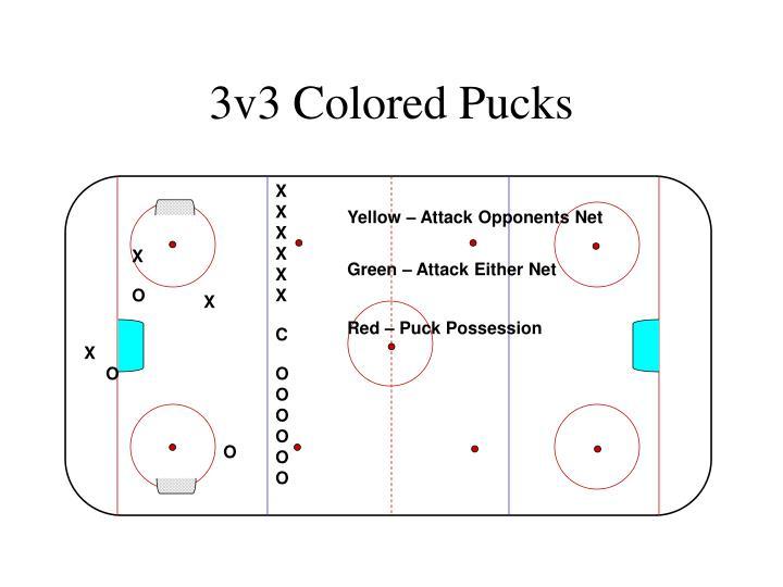3v3 Colored Pucks