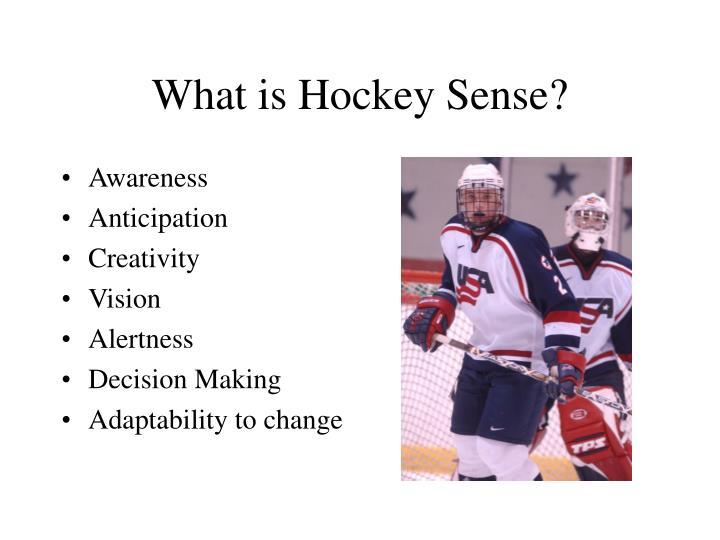 What is Hockey Sense?