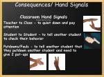 consequences hand signals