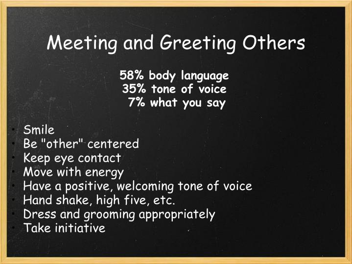 Meeting and Greeting Others