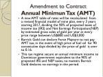 amendment to contract annual minimun tax amt1