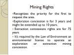 mining rights