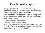 c pointer types