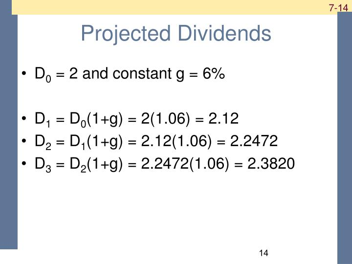 Projected Dividends