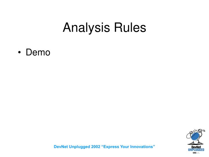 Analysis Rules