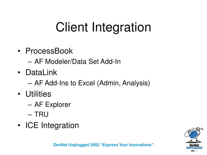 Client Integration
