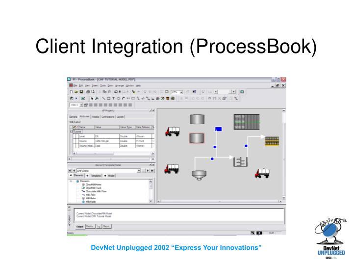 Client Integration (ProcessBook)