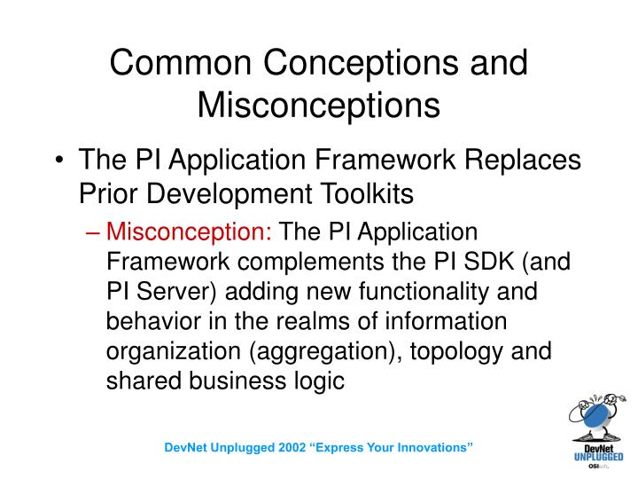 Common Conceptions and Misconceptions