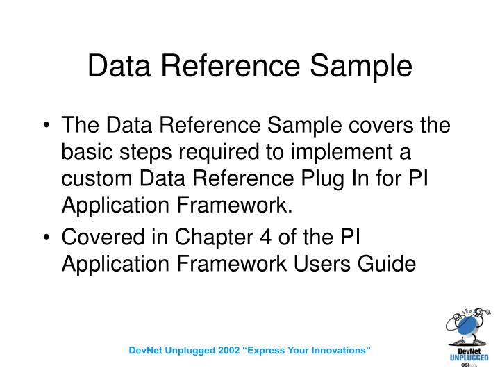 Data Reference Sample