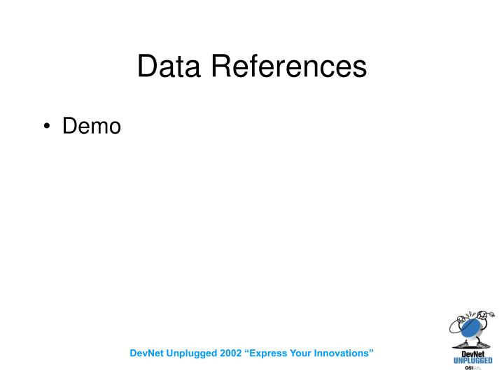 Data References