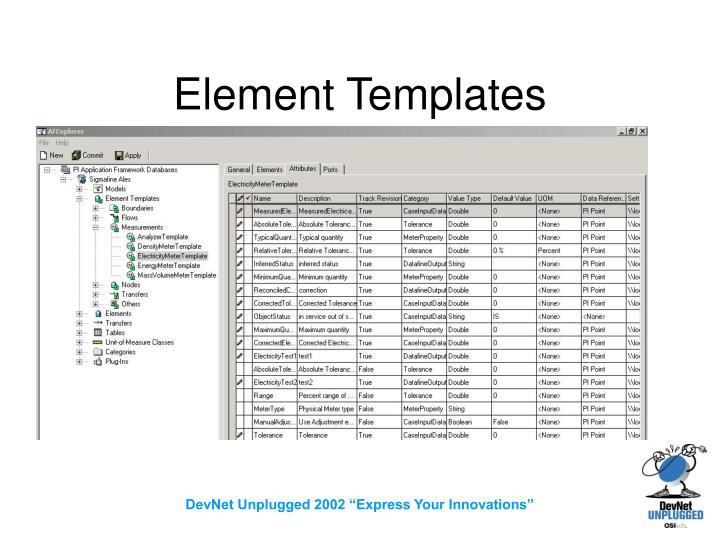 Element Templates