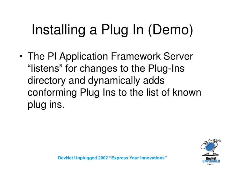 Installing a Plug In (Demo)