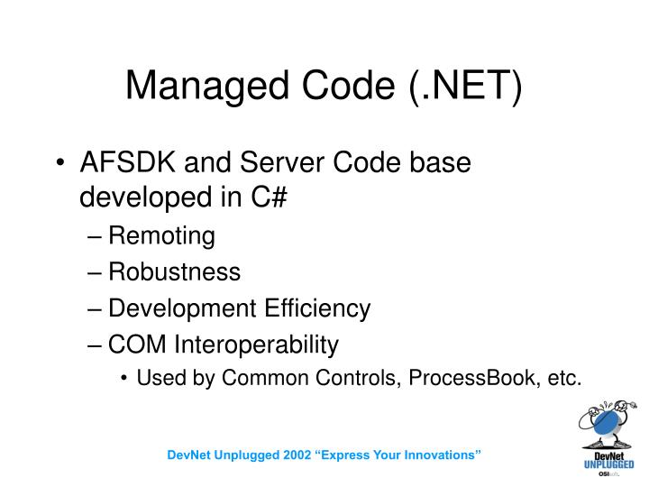 Managed Code (.NET)