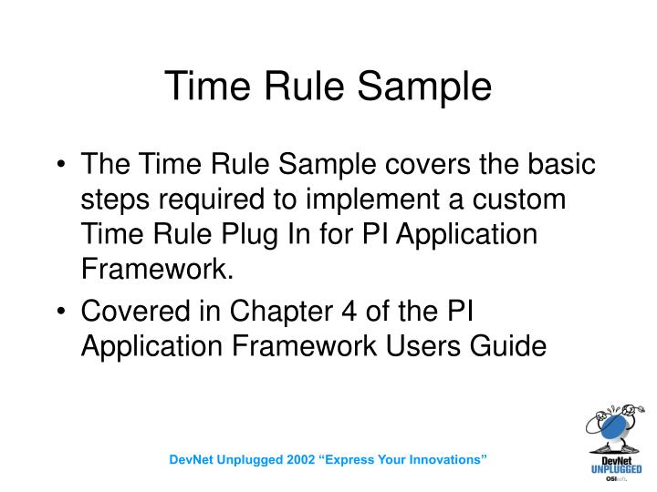 Time Rule Sample