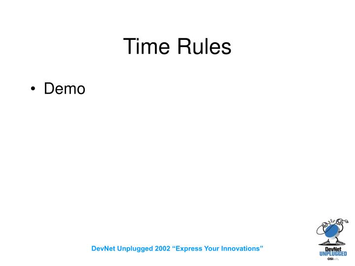 Time Rules