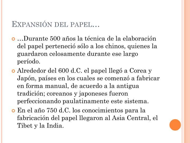Expansión del papel…