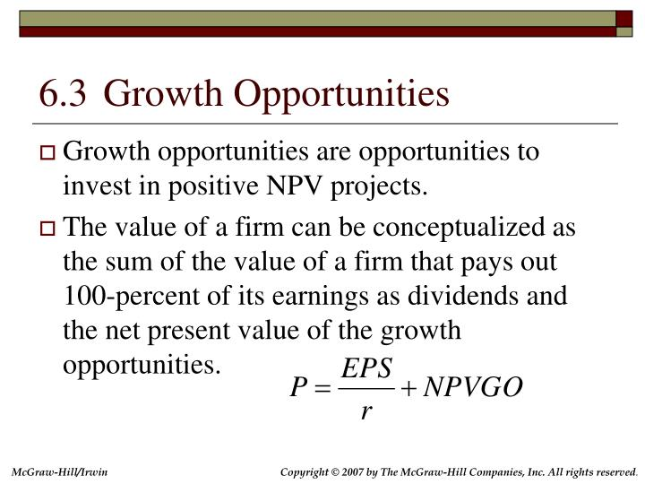 6.3	Growth Opportunities