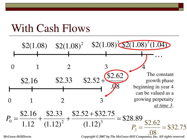 With Cash Flows
