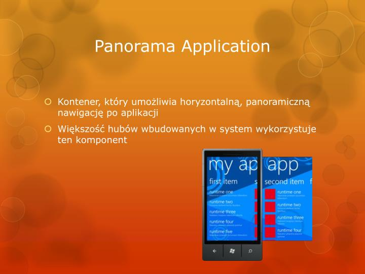 Panorama Application