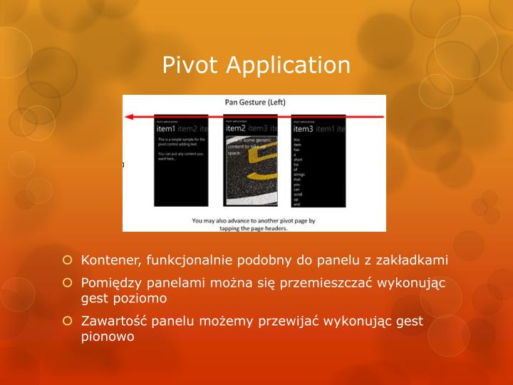 Pivot Application