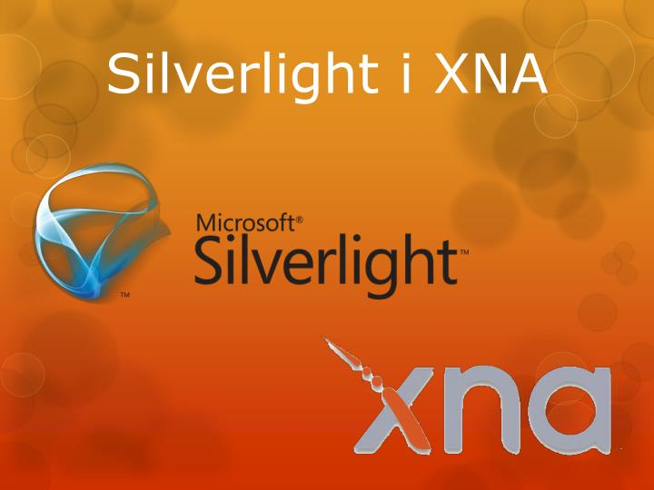 Silverlight i XNA