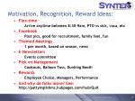 motivation recognition reward ideas