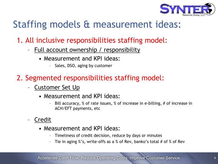 Staffing models & measurement ideas: