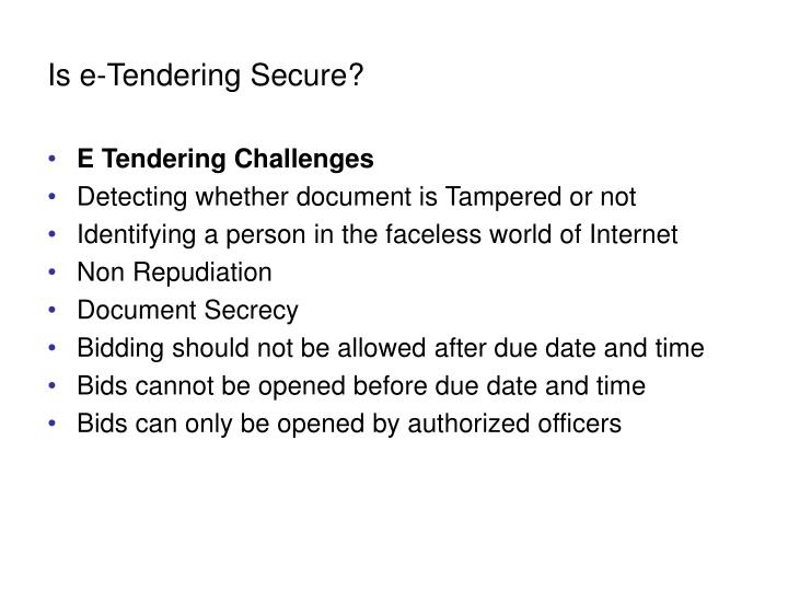 Is e-Tendering Secure?