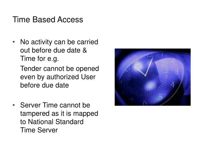 Time Based Access