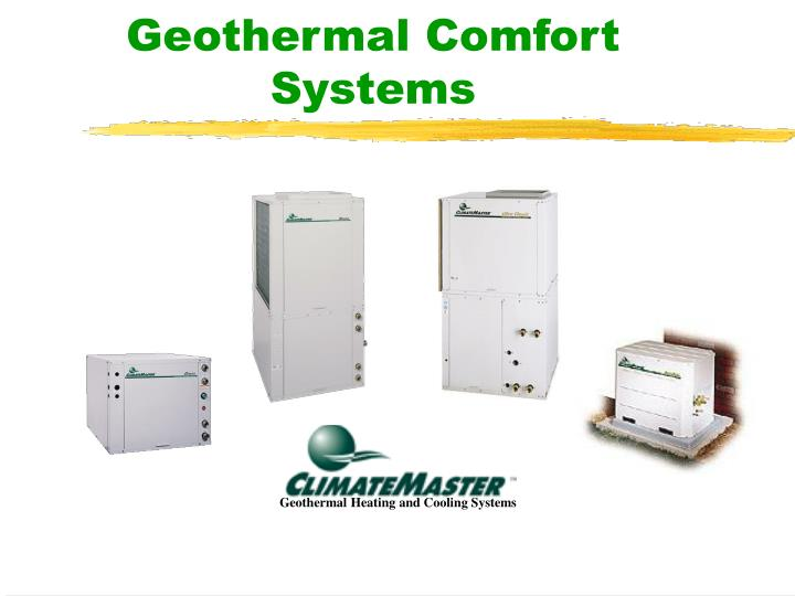 geothermal comfort systems
