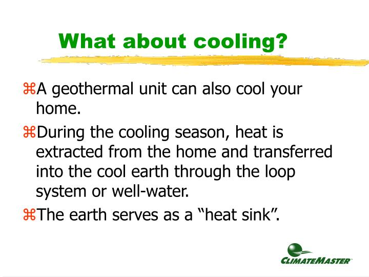 What about cooling?