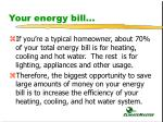 your energy bill