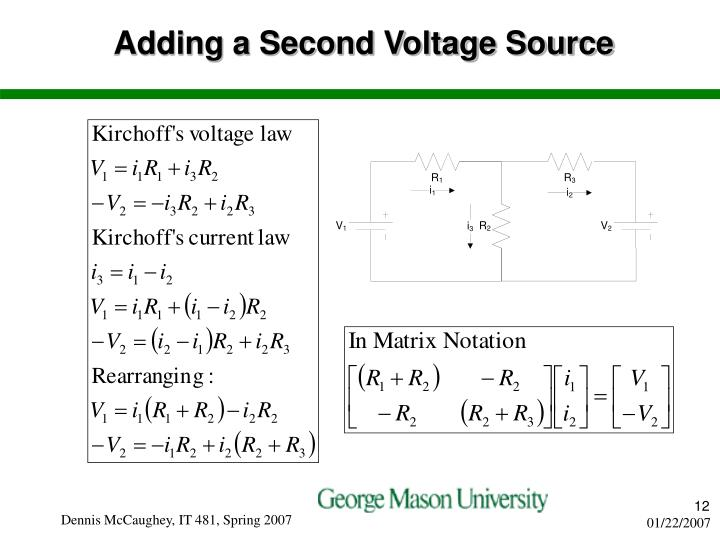 Adding a Second Voltage Source