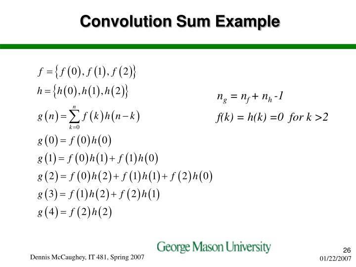 Convolution Sum Example