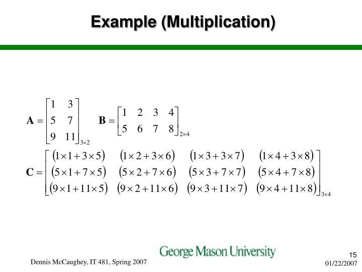 Example (Multiplication)
