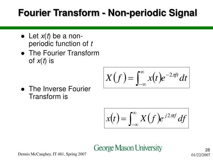 Fourier Transform - Non-periodic Signal
