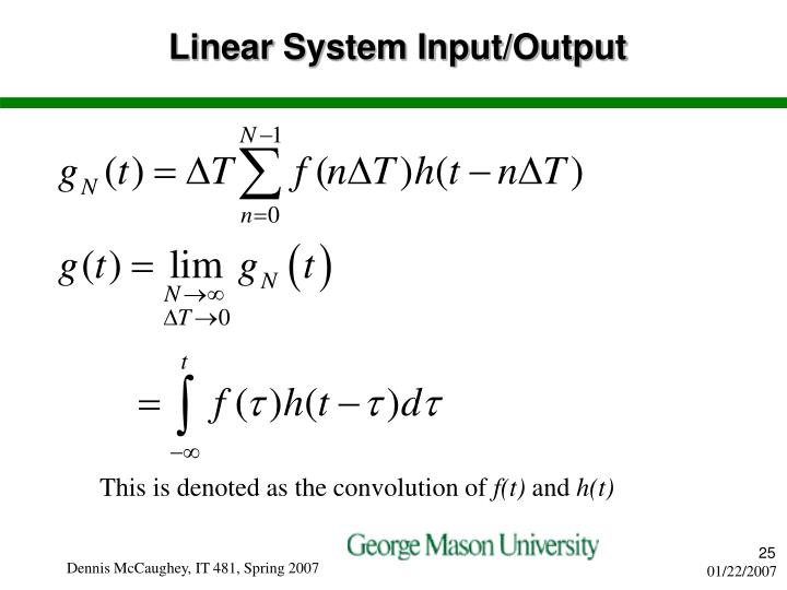 Linear System Input/Output