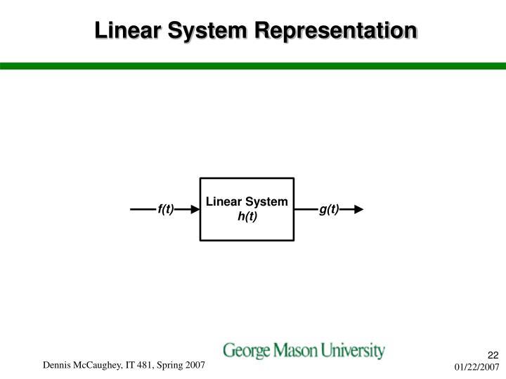 Linear System Representation